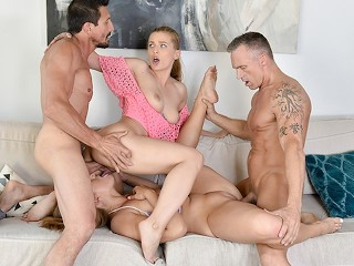 Mature hotel group sex