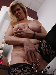 busty milf fucks in front of husband