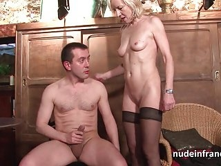 mature wife hsa orgasm while giving handjob videos